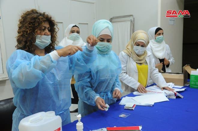 من حملة التطعيم ضد كورونا في سوريا (أرشيفية)