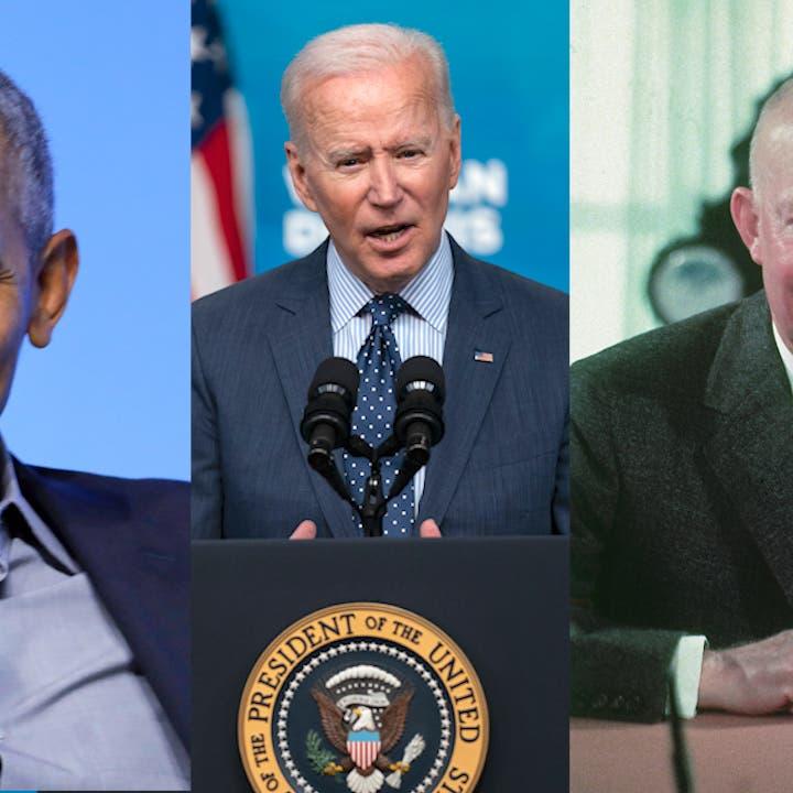 Biden Between 2015 Obama and 1956 Eisenhower