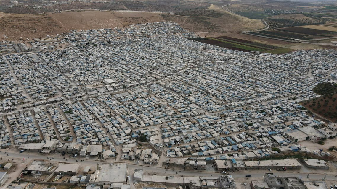 A general view shows al-Karameh camp for the internally displaced Syrians, in Idlib, Syria May 21, 2021. Picture taken May 21, 2021. Picture taken with a drone. REUTERS/Khalil Ashawi