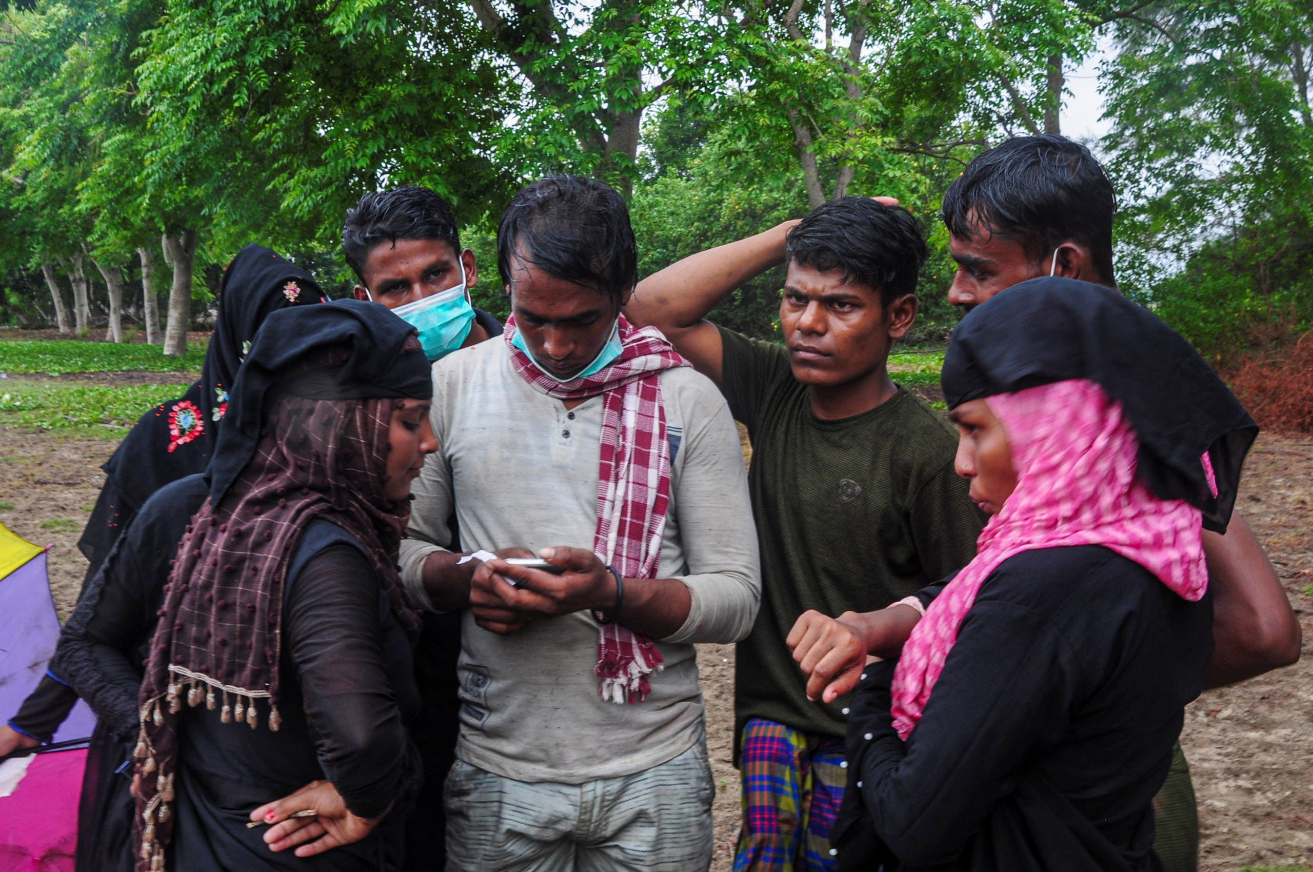 Some of the Rohingya refugees, die with the above boat in Arrived in Indonesia
