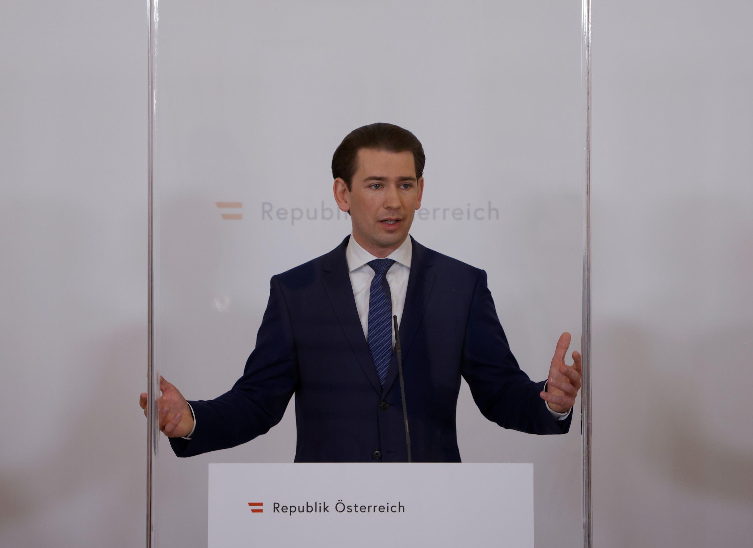 Conservative Chancellor Sebastian Kurz