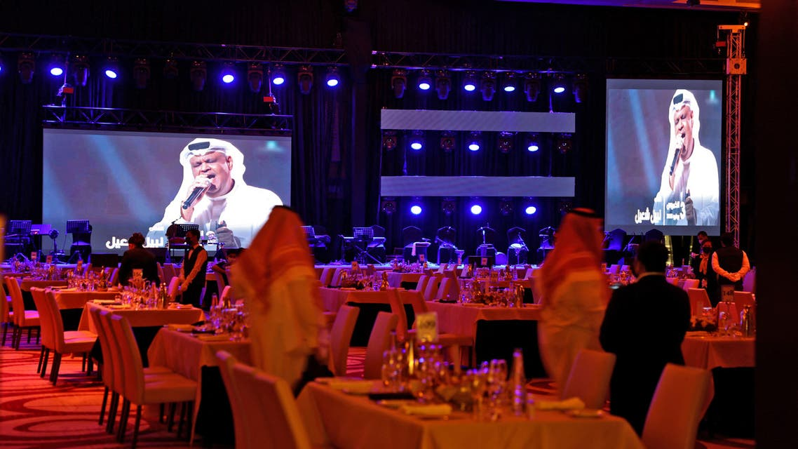 A picture taken late on June 3, 2021 show a theater hosting the first concert in the Saudi capital Riyadh since the start of the COVID-19 pandemic. (AFP)