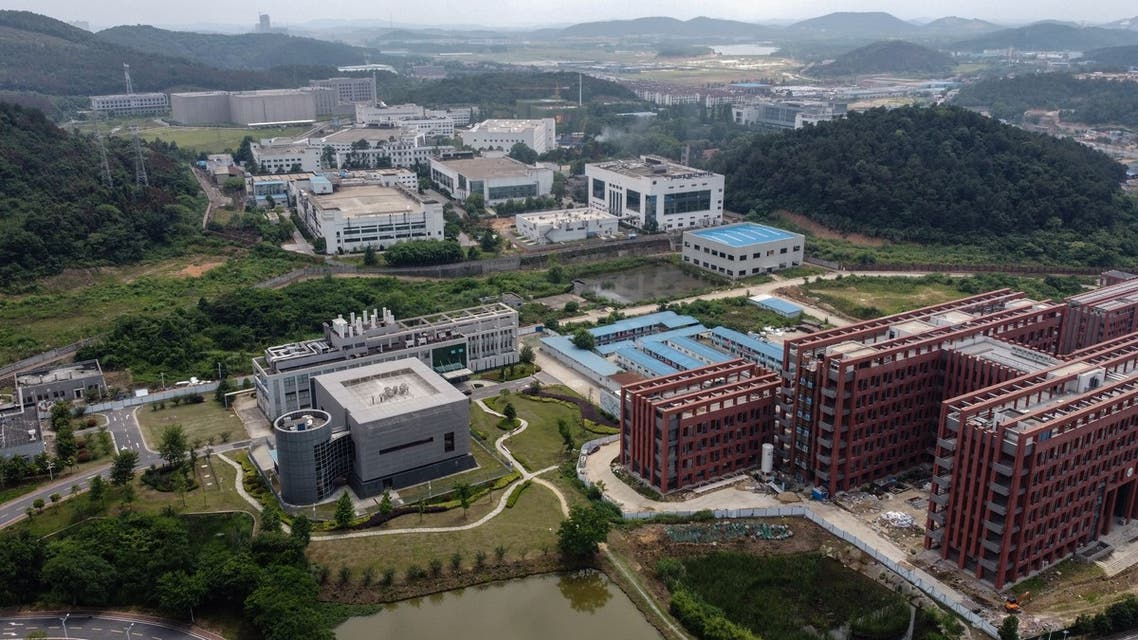 This aerial view shows the P4 laboratory (L) on the campus of the Wuhan Institute of Virology in Wuhan in China's central Hubei province on May 27, 2020. Opened in 2018, the P4 lab conducts research on the world's most dangerous diseases and has been accused by some top US officials of being the source of the COVID-19 coronavirus pandemic. China's foreign minister on May 24 said the country was open to international cooperation to identify the source of the disease, but any investigation must be led by the World Health Organization and free of political interference.