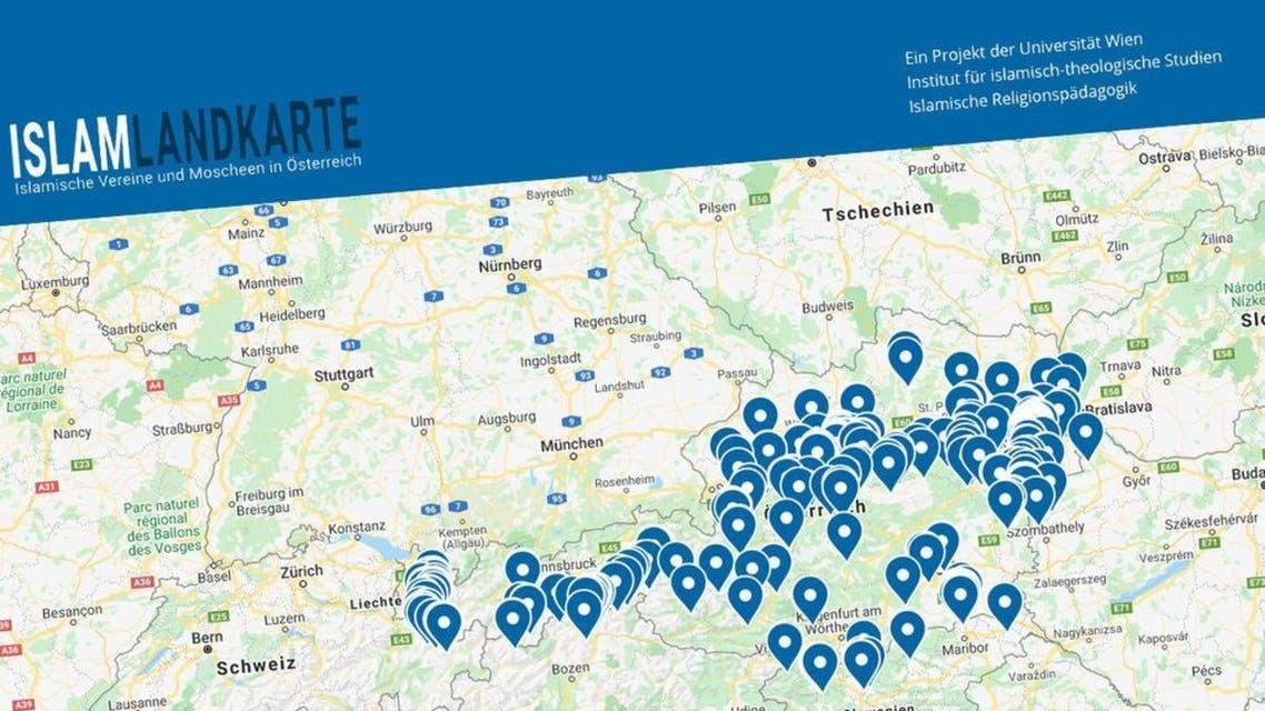 الخريطة المثيرة للجدل التي نشرها الحكومة النمساوية