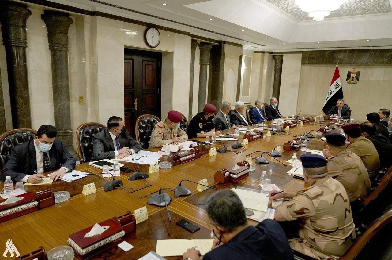 الكاظمي خلال اجتماع المجلس الوزاري للأمن الوطني