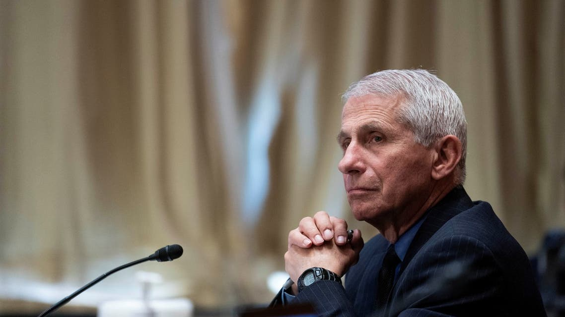Dr. Anthony Fauci, director of the National Institute of Allergy and Infectious Diseases, listens during a Senate Appropriations Labor, Health and Human Services Subcommittee hearing in Washington, US, May 26, 2021. (Reuters)