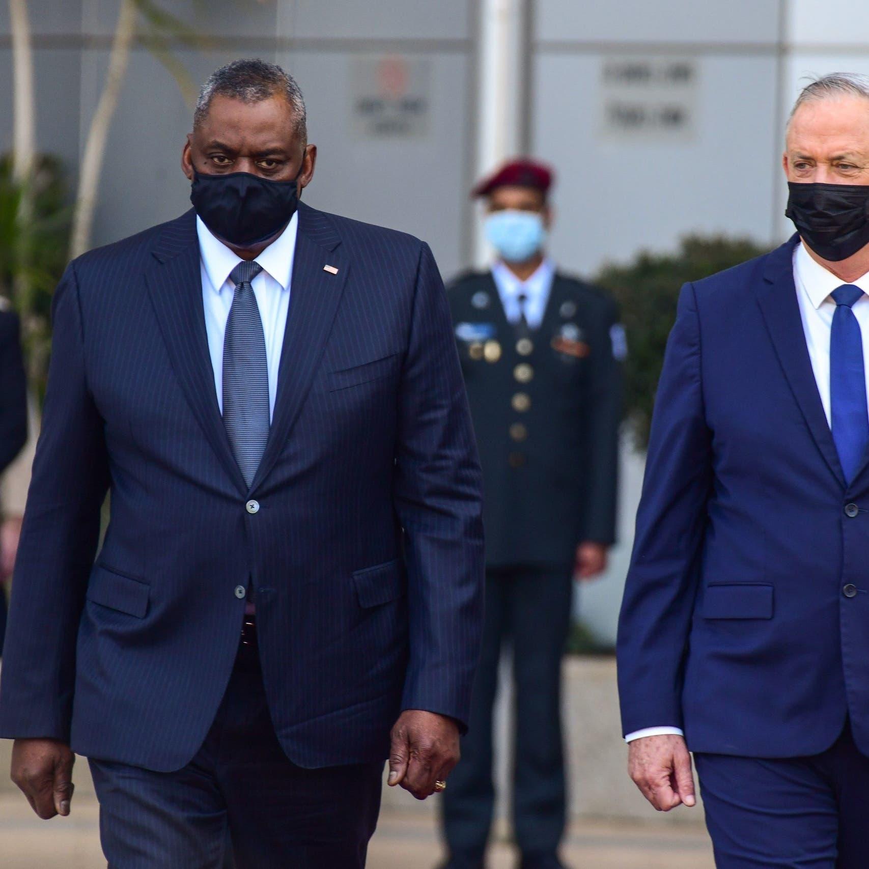 وزيرا دفاع أميركا وإسرائيل يبحثان سلوك إيران وتأمين مساعدات غزة