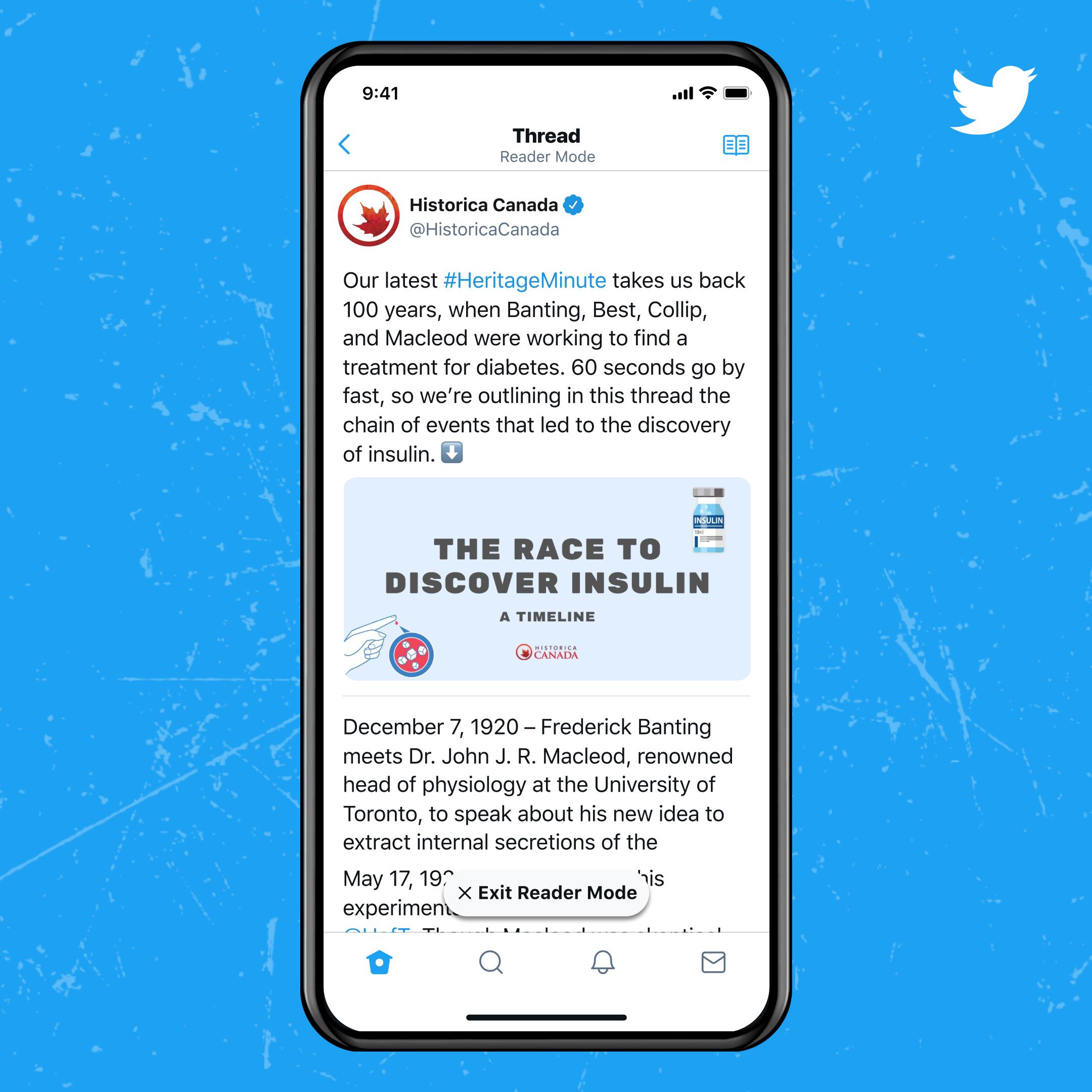 ميزة تجميع التغريدات وقراءتها كنص متكامل من تويتر بلو