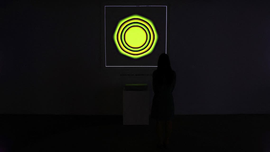 NEW YORK, NEW YORK - JUNE 04: An NFT titled 'Quantum' by Kevin McCoy is on display during a press preview of the upcoming Natively Digital: A Curated NFT Sale at Sotheby's on June 04, 2021 in New York City. 2 Cindy Ord/Getty Images/AFP