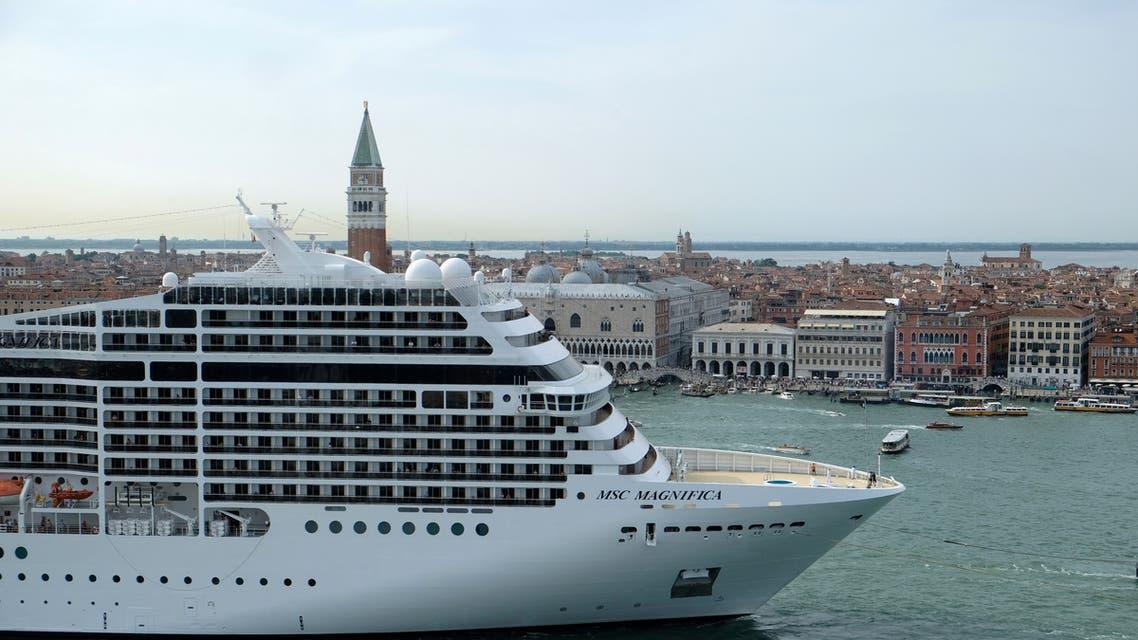 FILE PHOTO: MSC Magnifica cruise ship passes in the Saint Mark Basin in Venice, Italy June 9, 2019. (File Photo: Reuters)