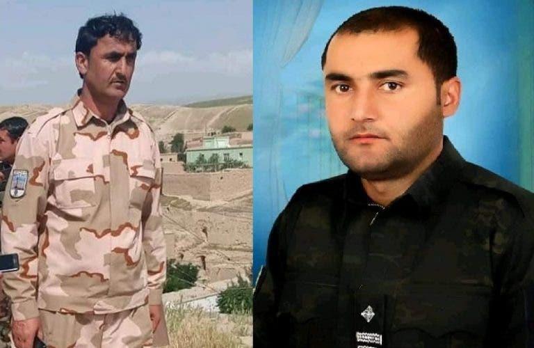 دو فرمانده پلیس که در حملات طالبان کشته شدند /عکس از شبکههای اجتماعی
