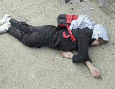 تصویر دانش آموز کشته شده در انفجاری بر یک مکتب در کابل