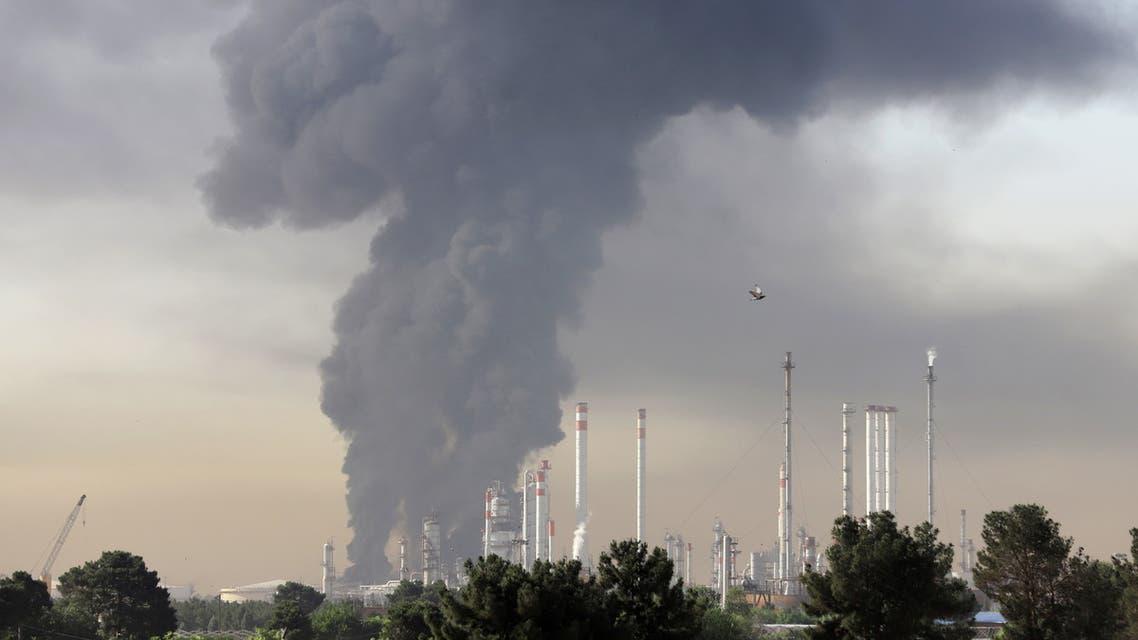 حريق مصفاة طهران 2