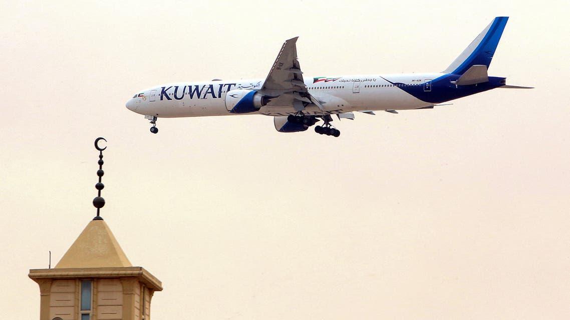 A Kuwait Airways Boeing B777 aircraft prepares to land at Kuwait International Airport. (File Photo: AFP)
