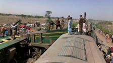 Pakistani train smashes into derailed carriages, 36 killed
