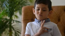 Five-year-old boy becomes Jordan's youngest sign language teacher