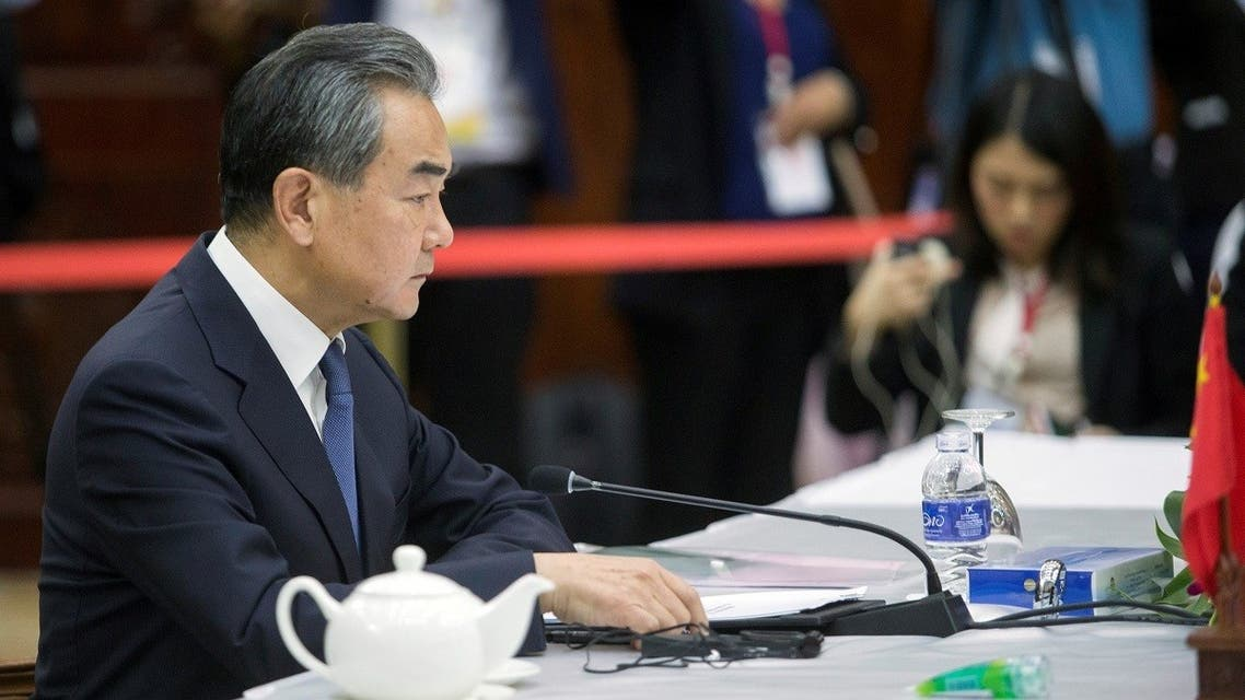 China's Foreign Minister Wang Yi speaks to foreign ministers of the Association of South East Asian Nations (ASEAN) in Vientiane, Laos. (File photo: Reuters)