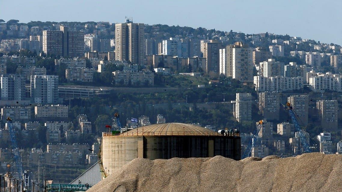 Haifa Chemicals' ammonia tank, Israel's largest ammonia tank, is seen in the Haifa bay area, Israel. (File photo: Reuters)