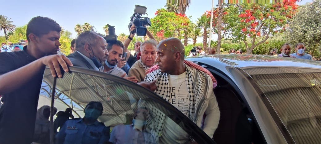 Abdullah Noah Abu Jaber on his arrival in Jordan