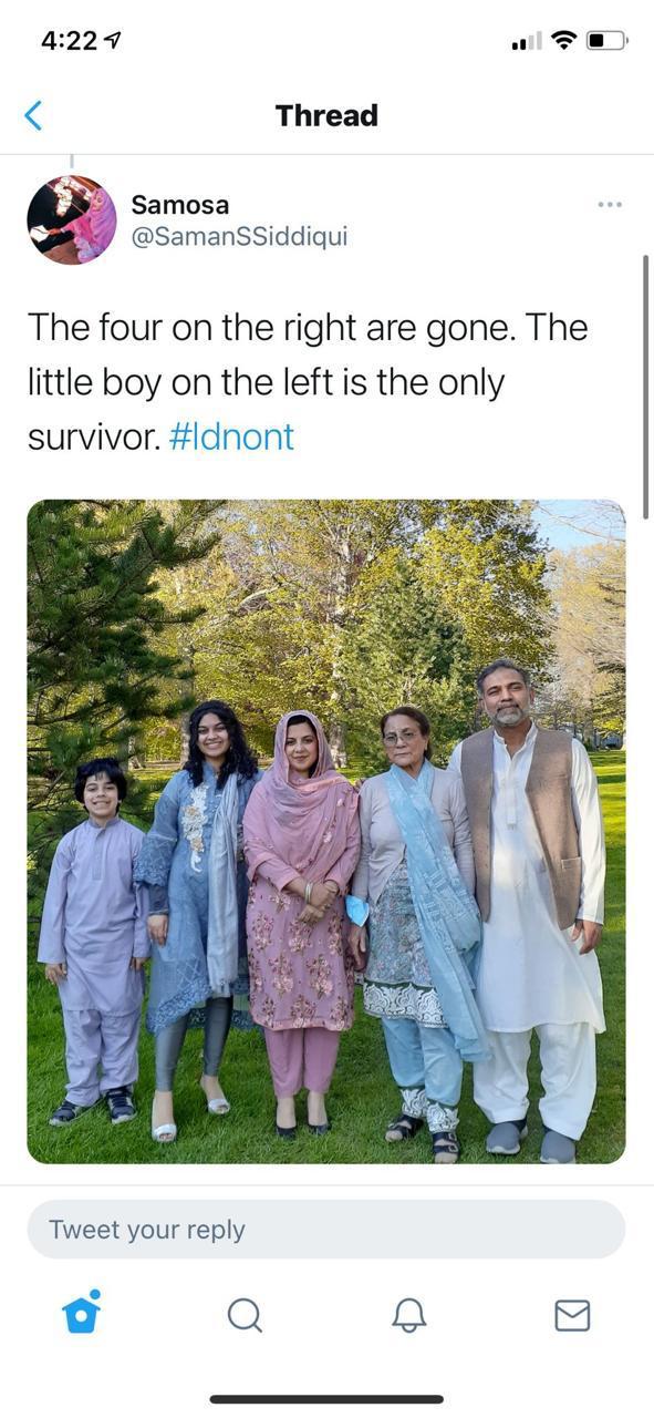 مقتل 4 من عائلة مسلمة في كندا