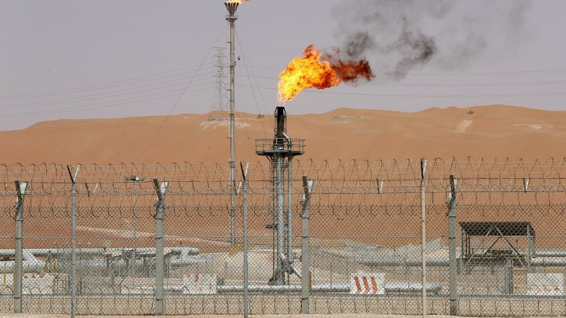 Flames are seen at the production facility of Saudi Aramco's Shaybah oilfield in the Empty Quarter. (File photo: Reuters)