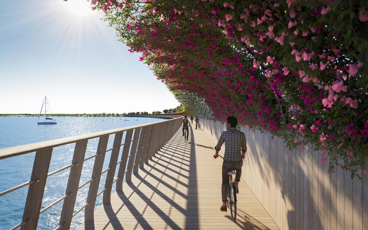 صورة تخيلية لطريق الجسر