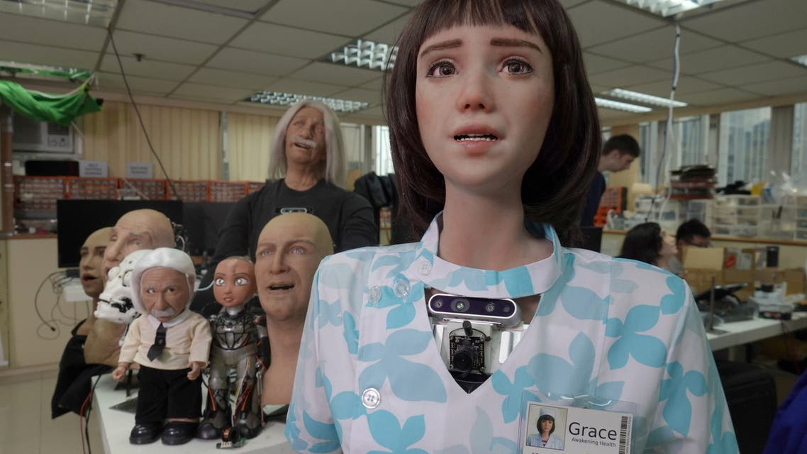 Humanoid robot Grace, developed by Hanson Robotics and designed for the healthcare market to interact and comfort the elderly and isolated people, especially those suffering during the coronavirus disease (COVID-19) pandemic, is seen at the company's lab in Hong Kong, China June 8, 2021. (File photo: Reuters)