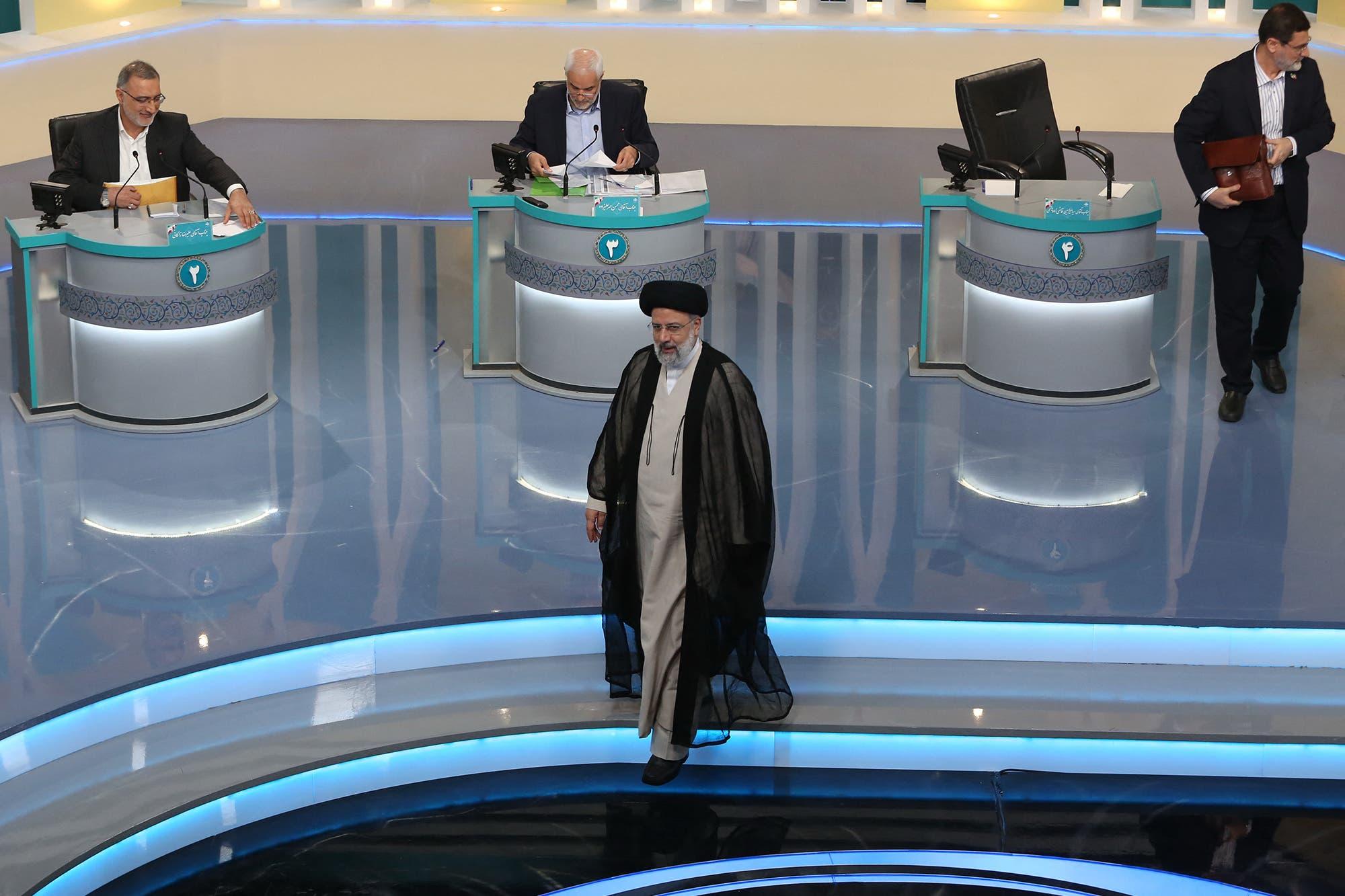 ابراهيم رئيسي خلال المناظرة