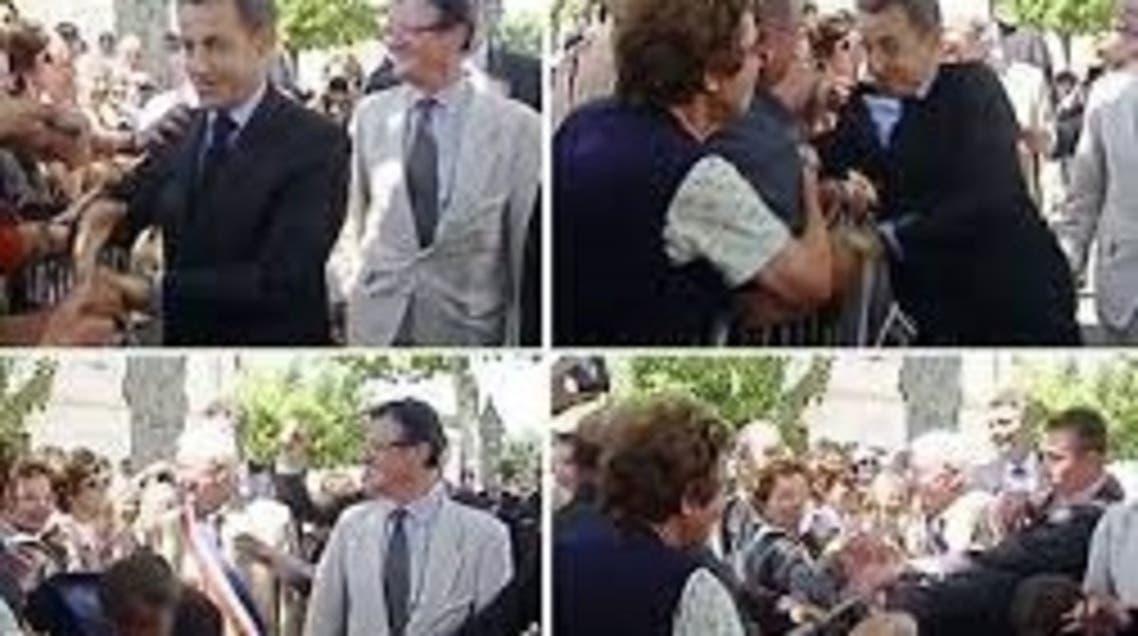 عندما تعرض ساركوزي للضرب