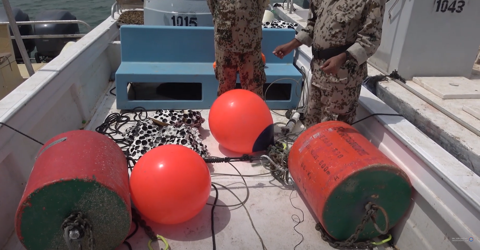 Watch .. Joint forces clear Iranian mines in the Red Sea
