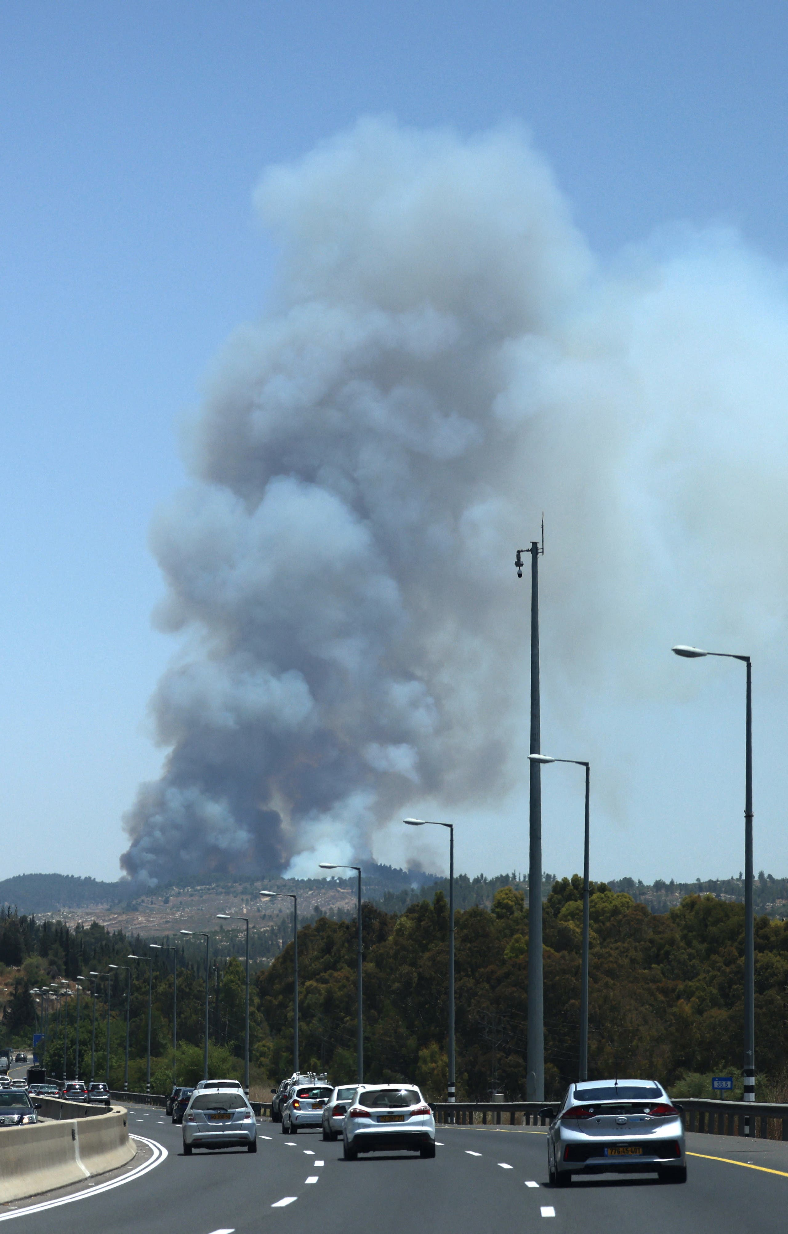Major fires in evacuated near Jerusalem and several villages