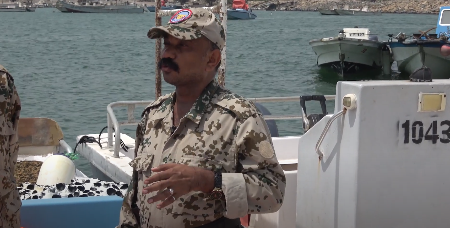 Coast Guard personnel in the National Resistance Colonel Abdullah Fachri