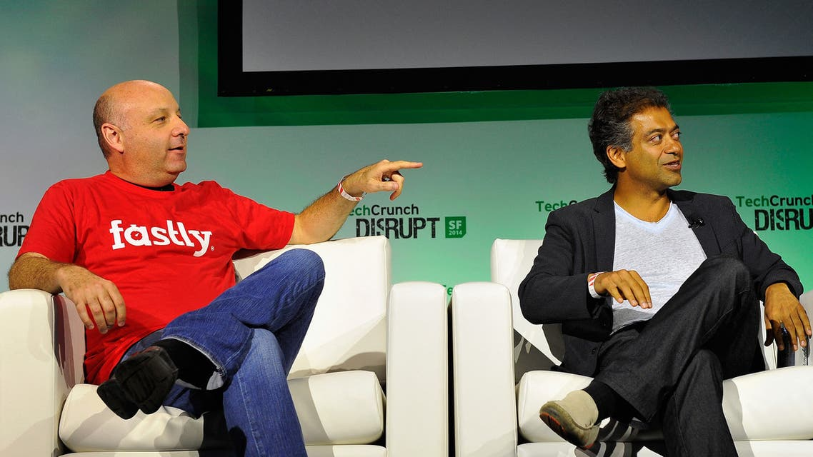 Fastly Co-Founder Gil Penchina (L) and AngelList Founder and CEO Naval Ravikant  (File photo: AFP)
