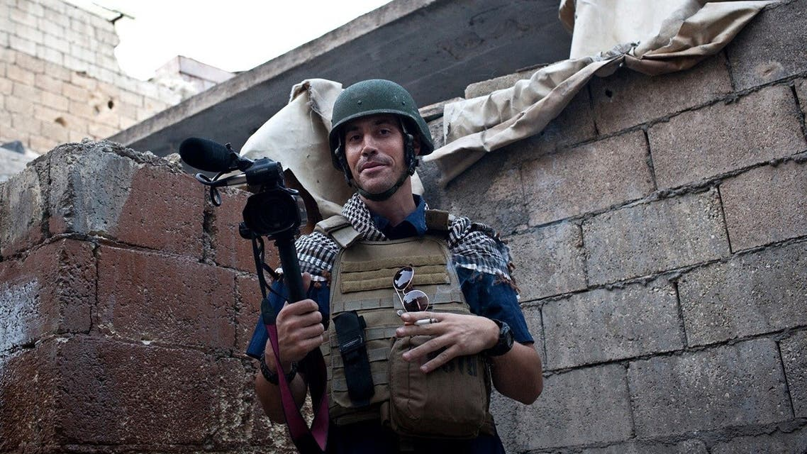 This file hand out picture courtesy of Nicole Tung taken on November 5, 2012 in Aleppo shows US freelance reporter James Foley, who was kidnapped in Syria. (Nicole Tung/AFP)