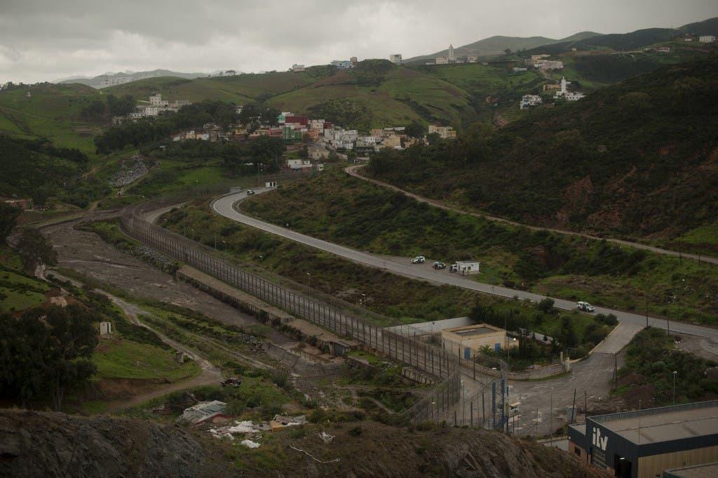 حدود سبتة مع المغرب