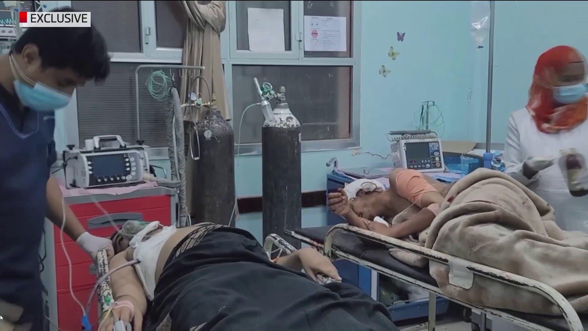 الصور الأولية لضحايا الهجوم #الحوثي على مسجد وسجن في #مأرب  #اليمن #العربية