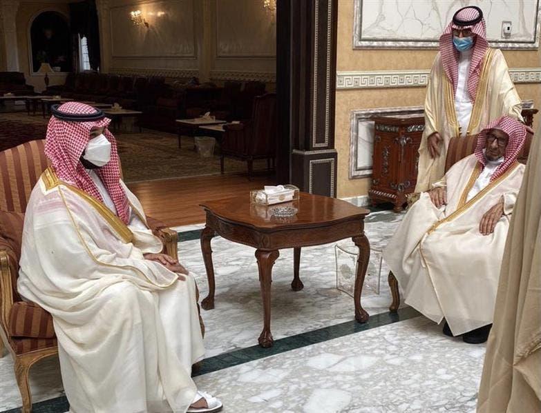 محمد بن سلمان في زيارته الأخير للشتري ومعايدته في منزله