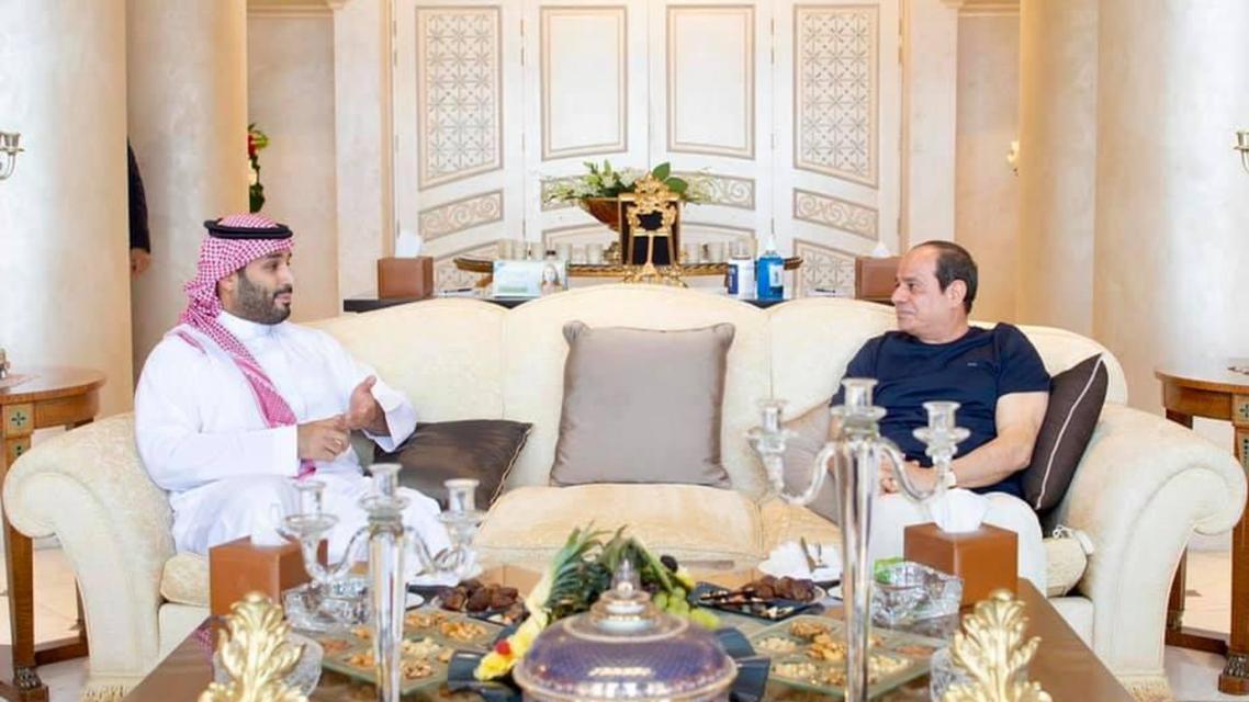 الرئيس المصري وولي العهد السعودي