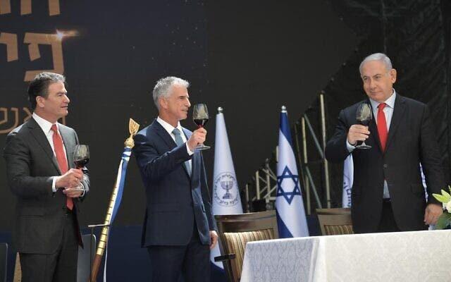 بنیامین نتانیاهو، دیوید بارنی و یوسی کوهن