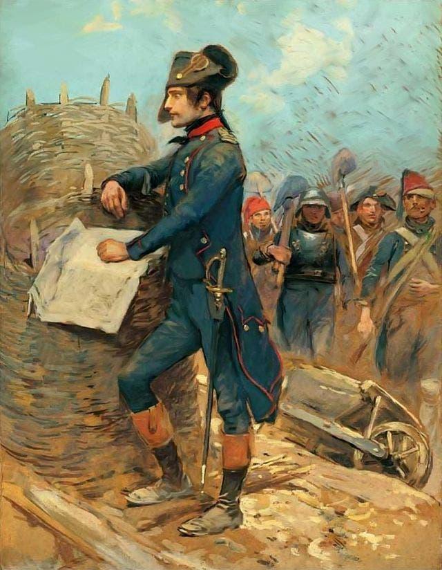 لوحة تجسد نابليون بونابرت خلال حصار تولون