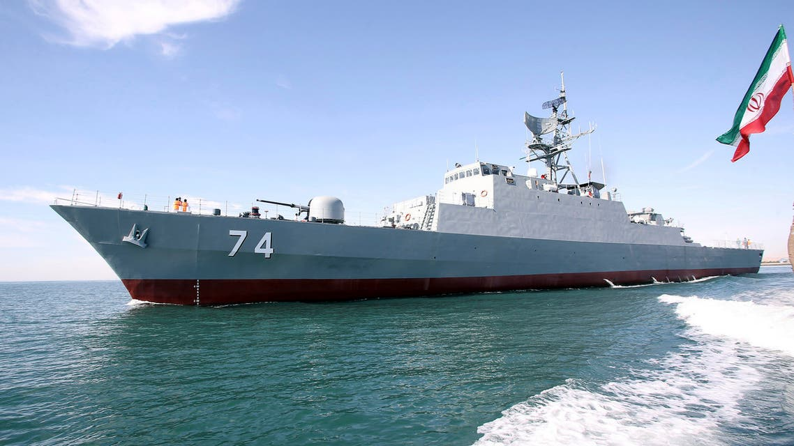 In this photo provided Saturday, Dec. 1, 2018, by the Iranian Army, the Iranian destroyer Sahand sails in Persian Gulf waters, in Bandar Abbas, Iran. (AP)