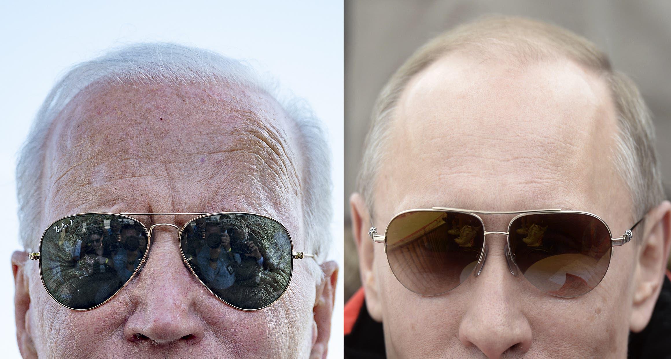 جو بایدن ، رئیس جمهور آمریکا و ولادیمیر پوتین ، همتای روسی (آرشیو - خبرگزاری فرانسه)