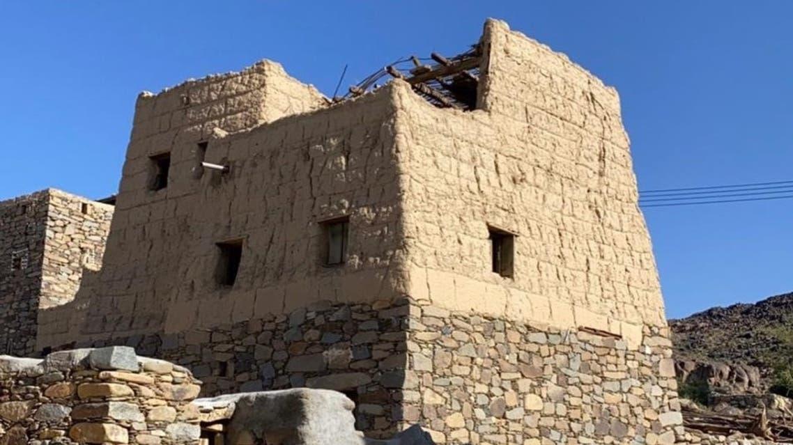 البيوت الحجرية جنوب السعودية