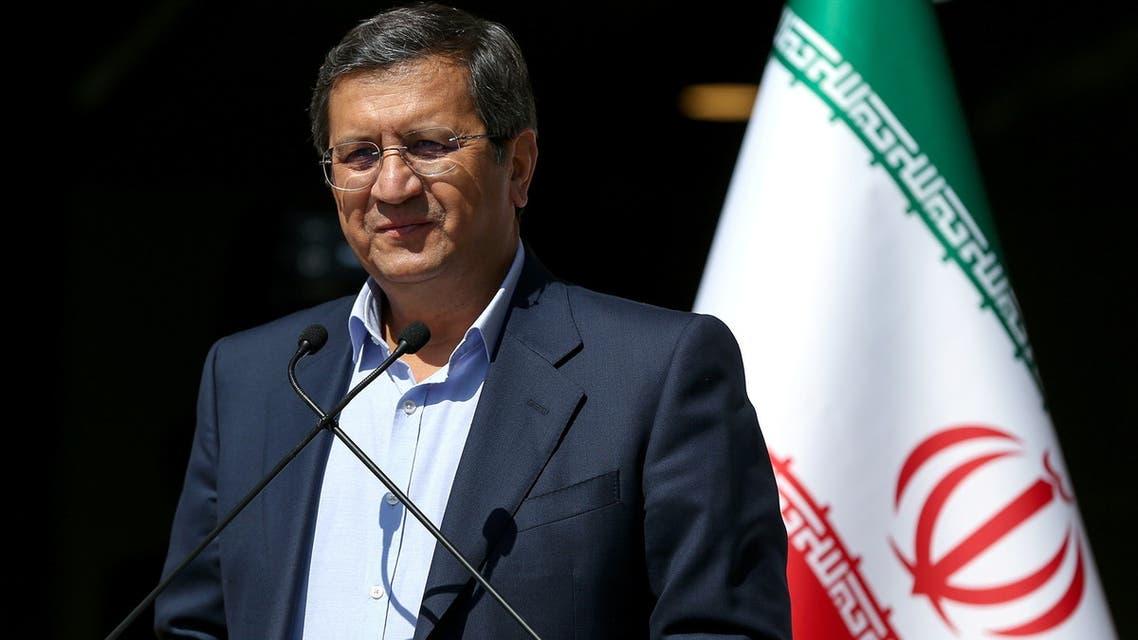 Presidential candidate Abdolnaser Hemmati speaks with journalists before the start of the last election debate, in Tehran, Iran June 12, 2021. (Reuters)
