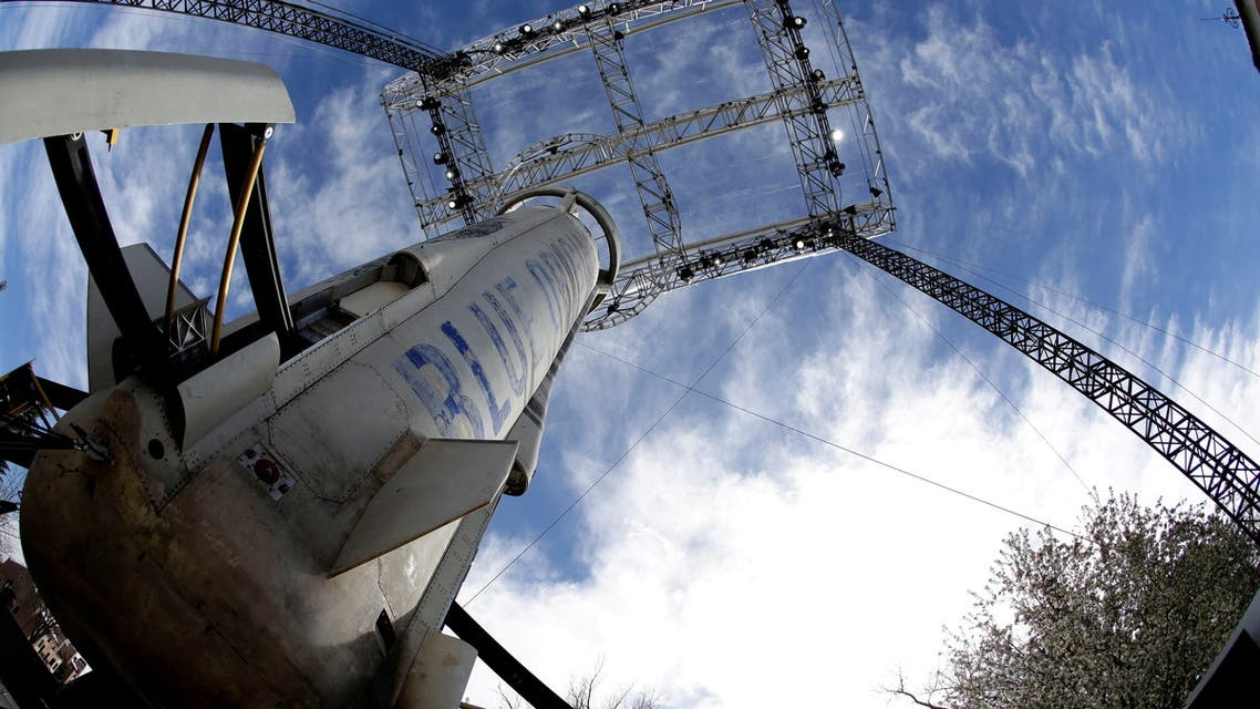 FILE PHOTO: A general view of the Blue Origin New Shepard rocket booster at the 33rd Space Symposium in Colorado Springs, Colorado, United States April 5, 2017. REUTERS/Isaiah J. Downing/File Photo
