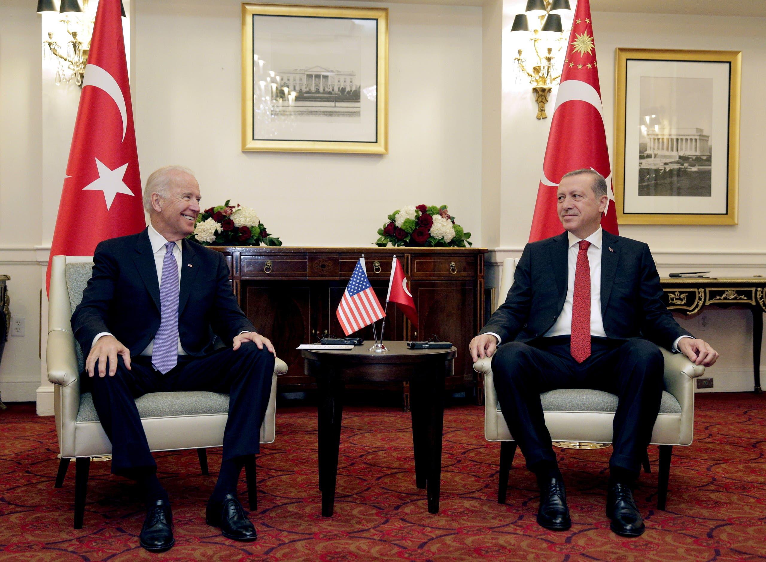 لقاء سابق بين بايدن وأردوغان في واشنطن في 2016