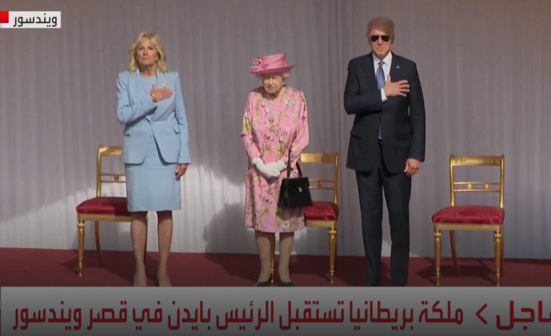 بايدن وزوجته يلتقيان ملكة بريطانيا