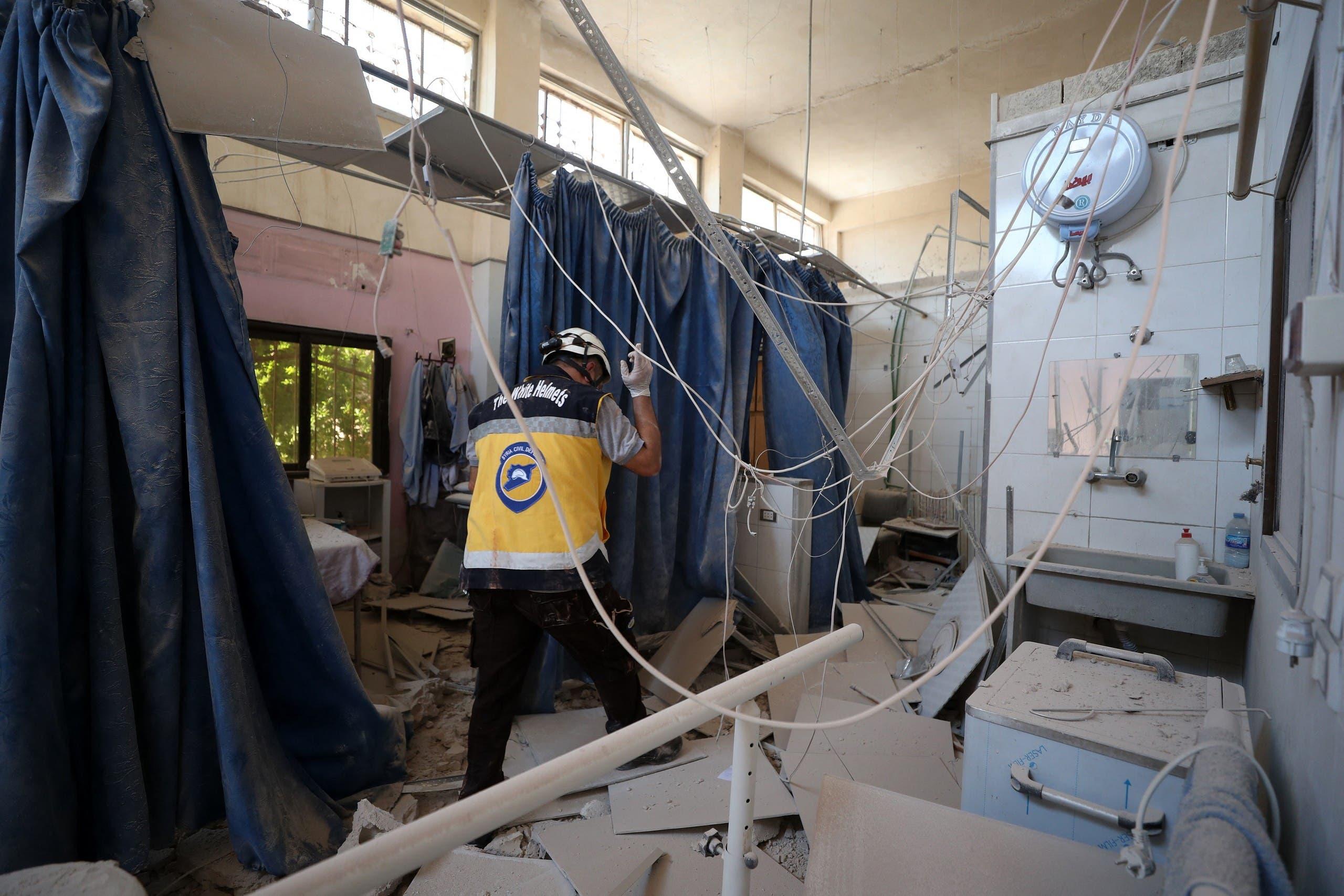 الدمار في مستشفى عفرين