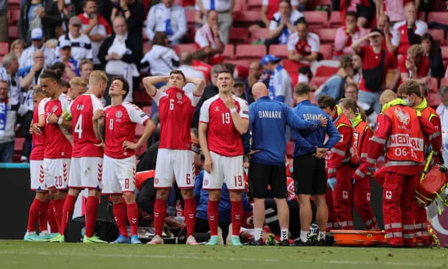 ترس و وحشت بازیکنان دانمارک یس از حمله قلبی اریکسن