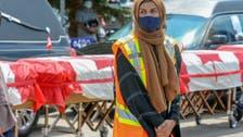 بنعوش لفت بعلم كندي.. المئات يشاركون بتشييع العائلة المسلمة